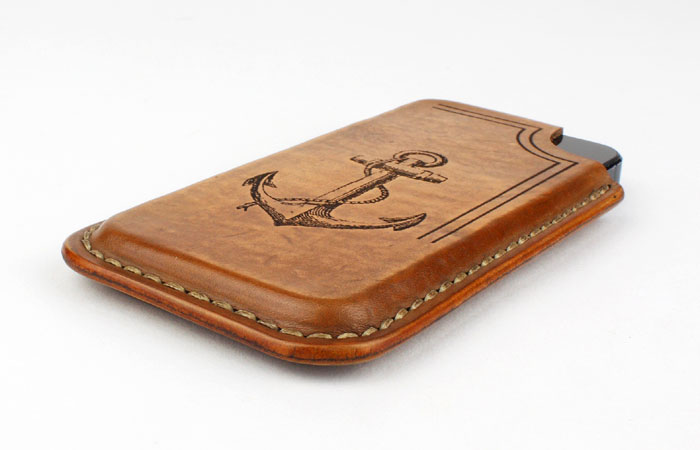 Leather Iphone case engraved